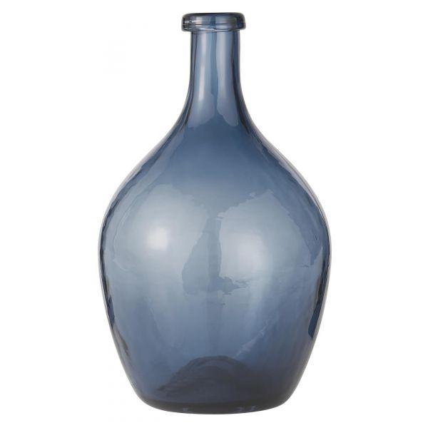 Glassballong munnblåst blå
