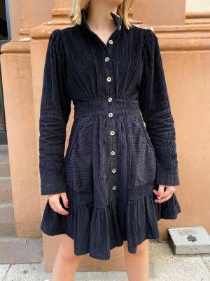 Corduroy Mini Dress - Black