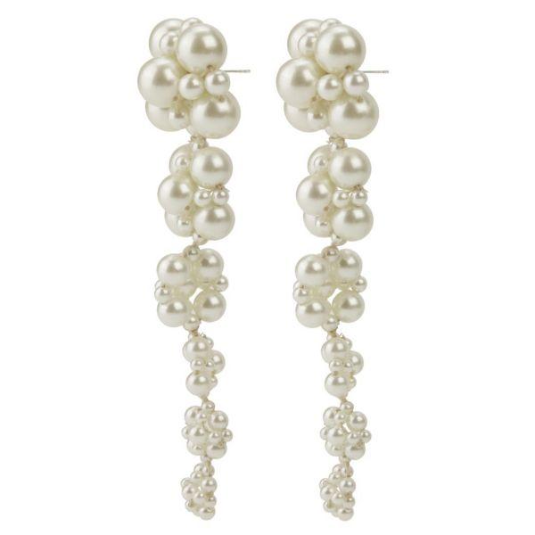 Zita Earrings - Whisper White