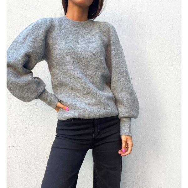 Kalliroi Knit O-Neck - Grey Melange