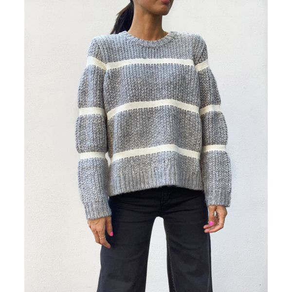 Roma Knit - Grey Melange
