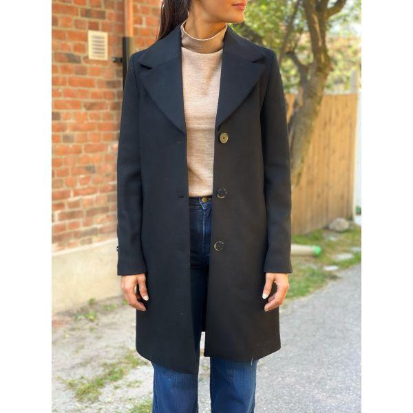 New Sasja Wool Coat - Black