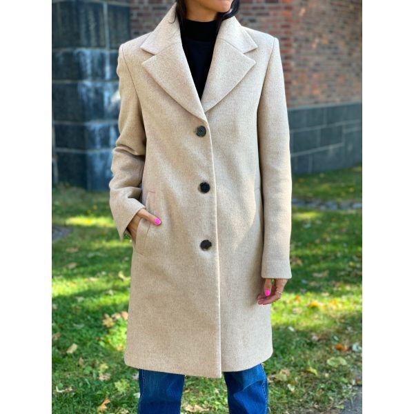 New Sasja Wool Coat - Beige
