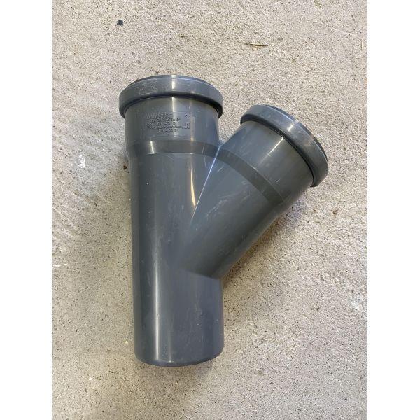 75mm Y-stykke m/ 2 muffer