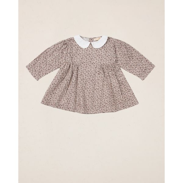 byTiMo - KJOLE 50´S COLLAR DRESS PETITE FLOWERS