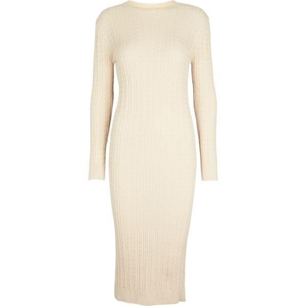 Aline kjole off white