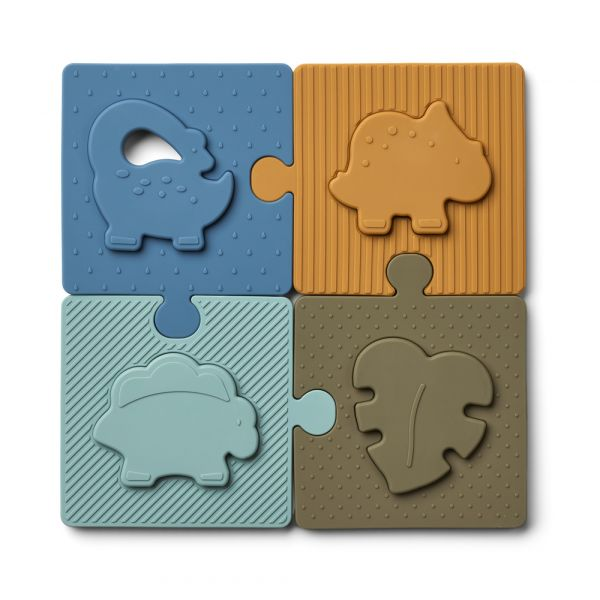 LIEWOOD - BODIL PUZZLE DINO BLUE MULTI MIX