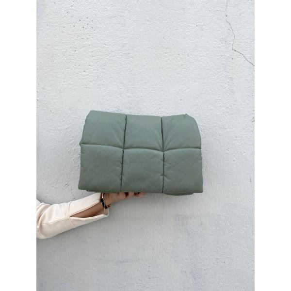 Wanda Faux Leather Clutch Bag - Dusty Mint