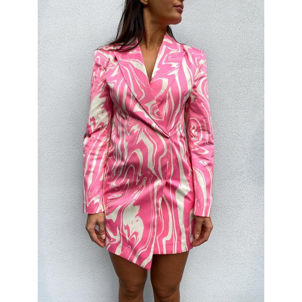Shannon Blazer Dress - Pink Comb