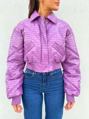 Rosa Bomber Jacket - Amethyst