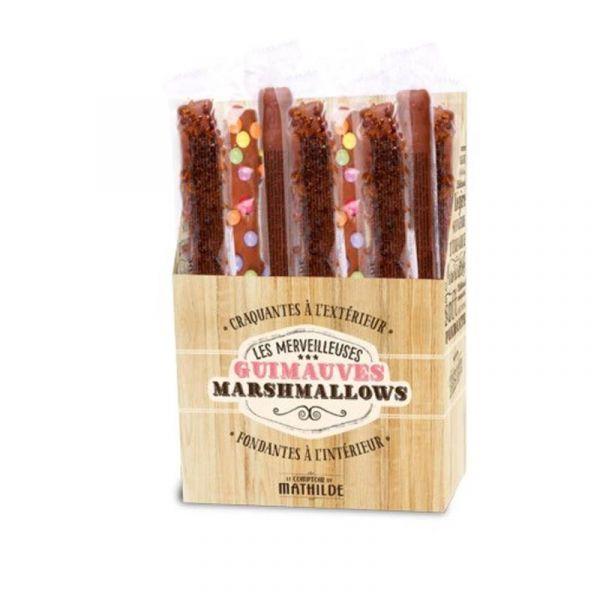 Marshmallows med sjokoladetrekk og nonstop