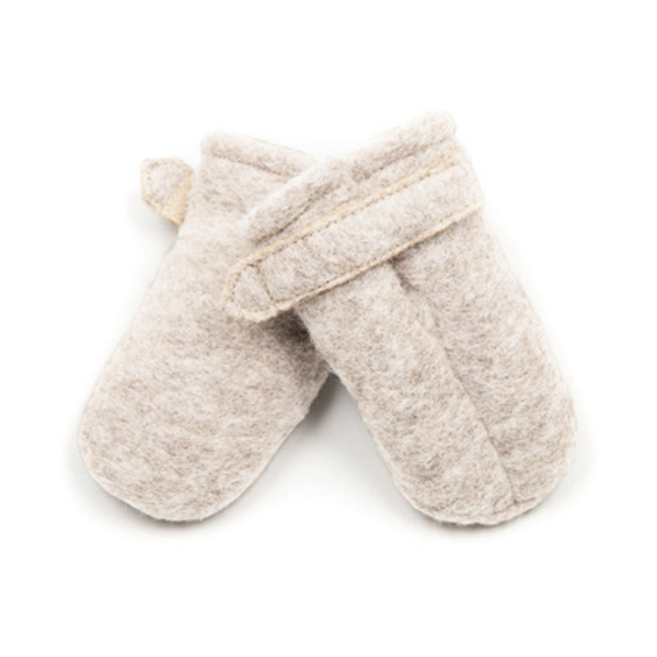 HUTTELIHUT - POOHFY BABY MITTS WOOL SAND