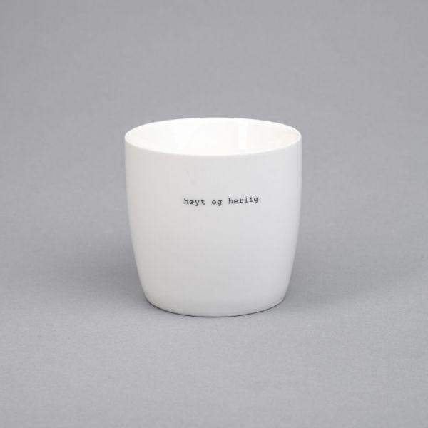 Krus hvit «høyt og herlig»