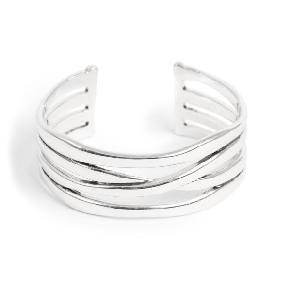 Armbånd Cuff sculptured silver