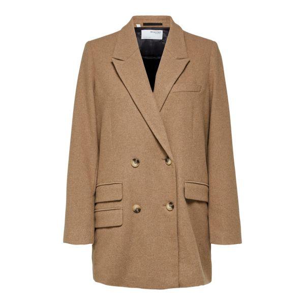 Regina Double Breasted Wool Blazer
