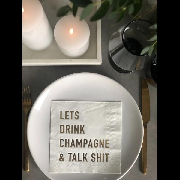 Serviett - Lets drink champagne