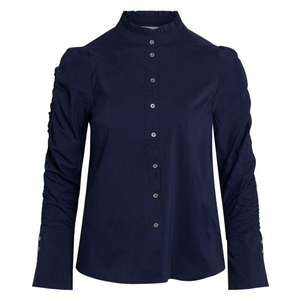 Sandy Elastic Sleeve Navy Shirt