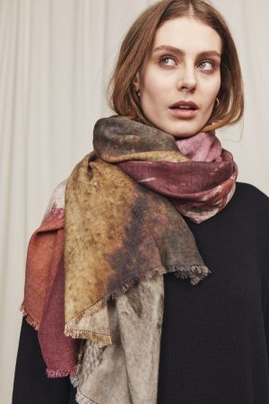 Sunset River Wool Scarf