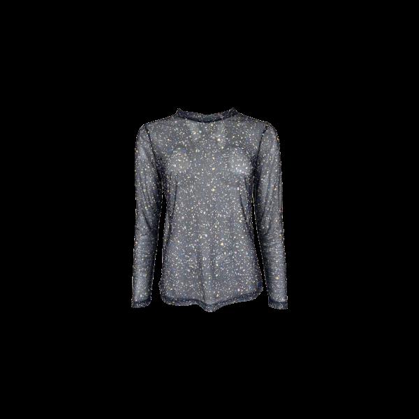 MILANO confetti mesh blouse