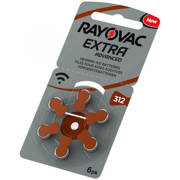 Rayovac Extra 312 (6 stk.) Høreapparatbatterier