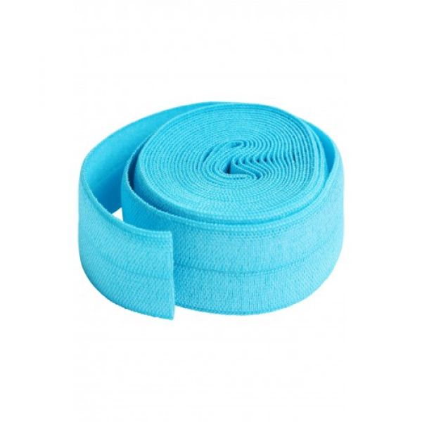Fold over elastic parrot blue