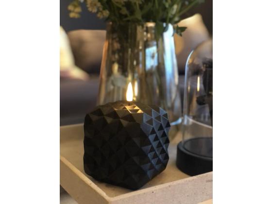 Led kubbelys med 3d flamme