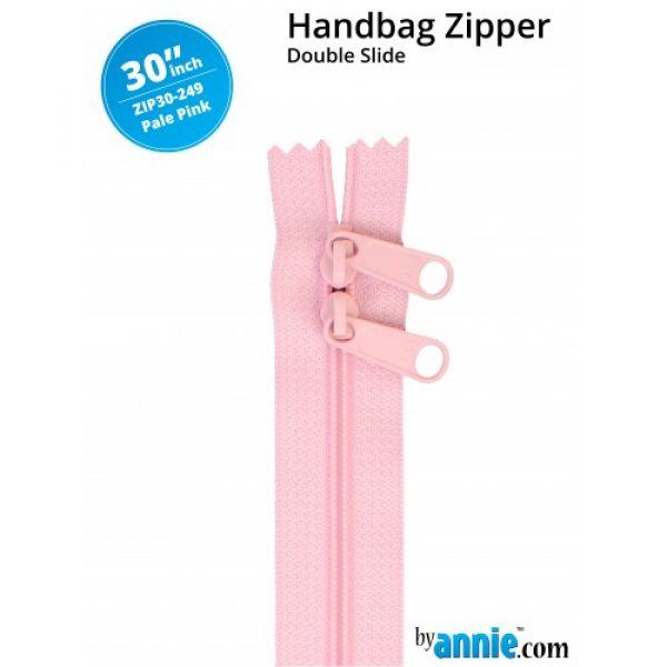 Glidelås lyserosa (pale pink) 30 inch