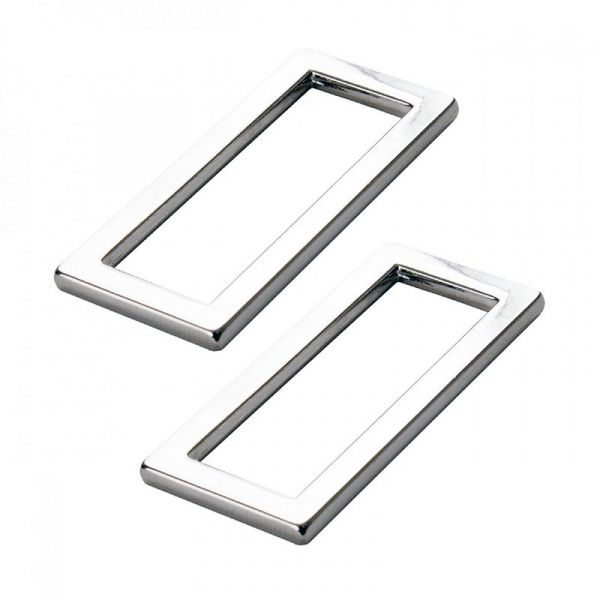 By Annie rectangle ring nickel 2 pack