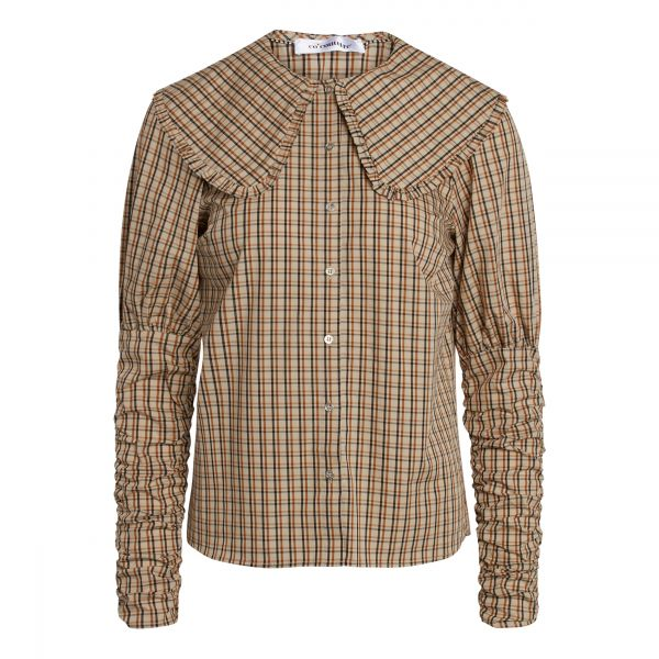 Cilia Collar Check Shirt