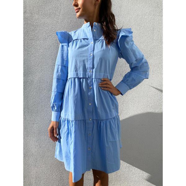Violi Shirt Dress - Vista Blue