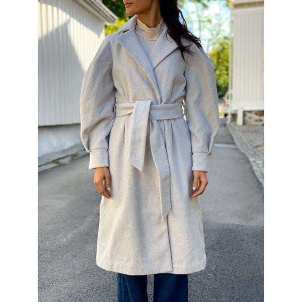 Zoga Wool Coat - Silver