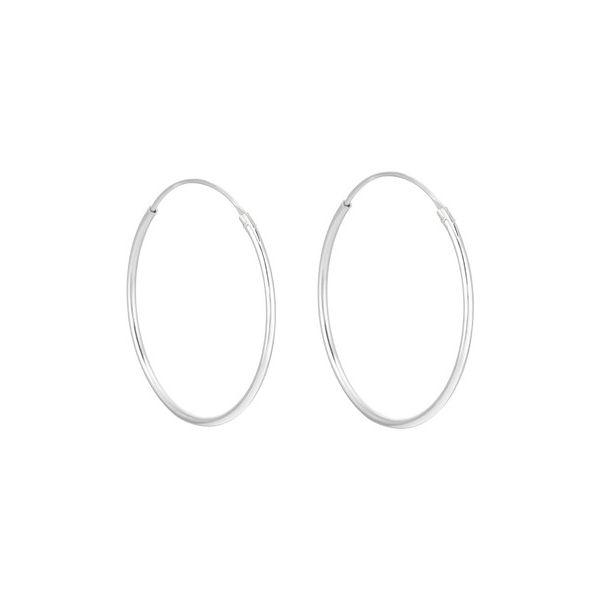 Sølv øreringer - (925) 50x1MM