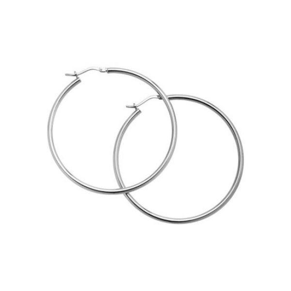 Sølv øreringer - (925) 45x1MM
