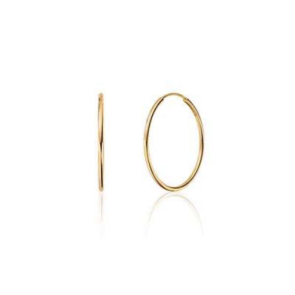 Forgylte sølv øreringer - (925) 20x1MM