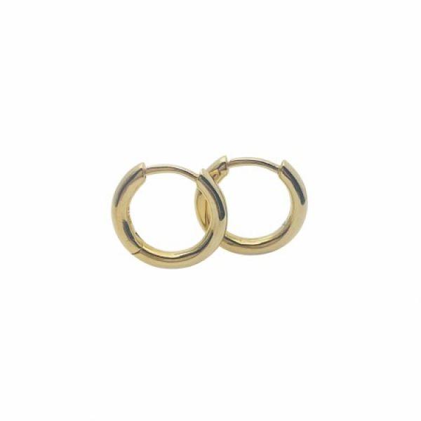 Forgylte sølv øreringer - (925) 14x1,2MM