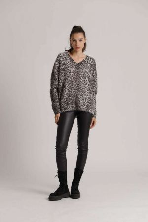 Pullover with leo print