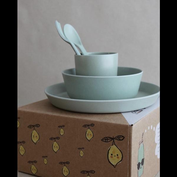 Spisesett til småbarn (toddlers) fra CINK, Farge: Moss Green