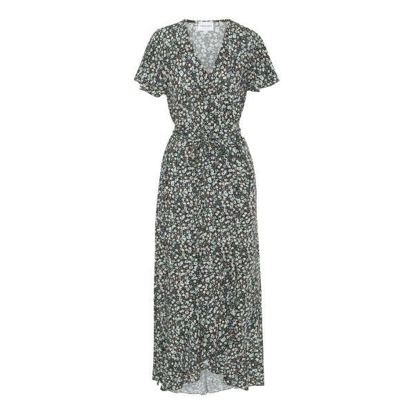 Milly Wrap Dress Blk/blue