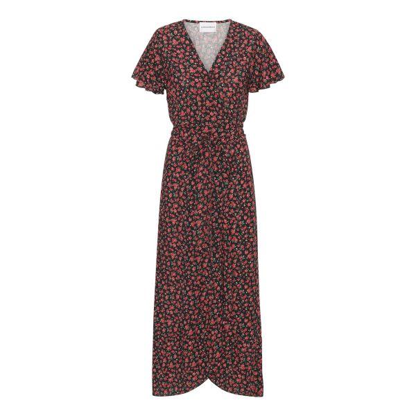 Milly Wrap Dress Black/Red