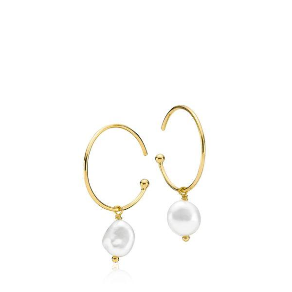 Passion - Øreringer forgylt med perler
