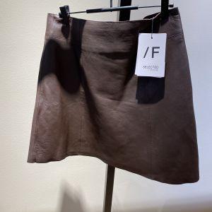 Ibi Leather Skirt Brown