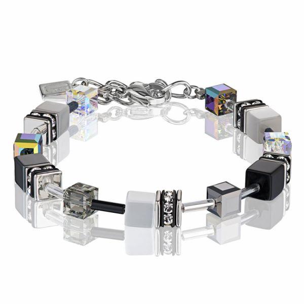 GEOCUBE Black/Silver Bracelet
