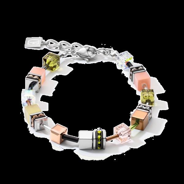 GEOCUBE Oliven/Peach Bracelet