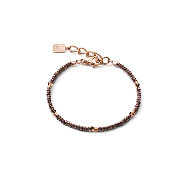 Single Row Anthracite Brown Bracelet