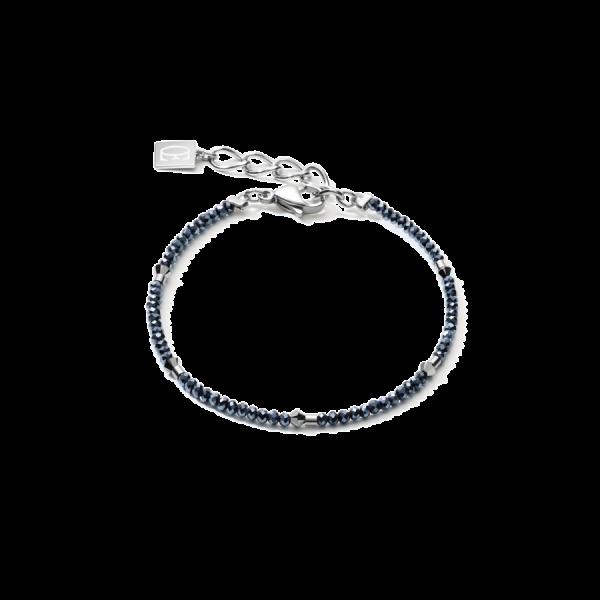 Single Row Anthracite Dark Blue Bracelet
