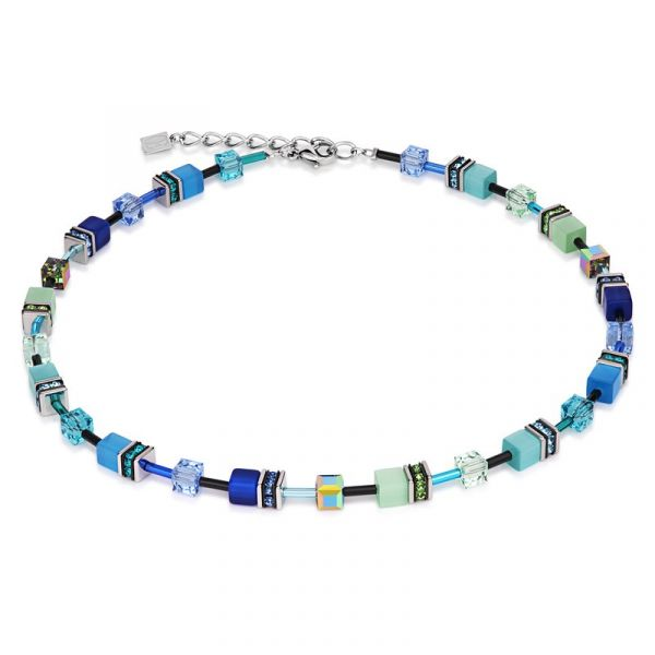 GEOCUBE Blue/Green Necklace
