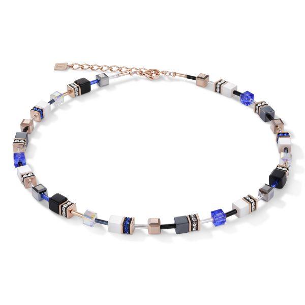 GEOCUBE Blue/Gold Necklace