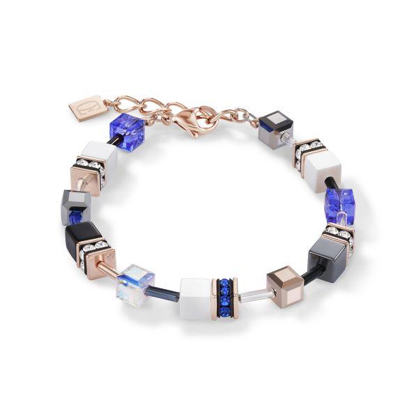 GEOCUBE Blue/Gold Bracelet
