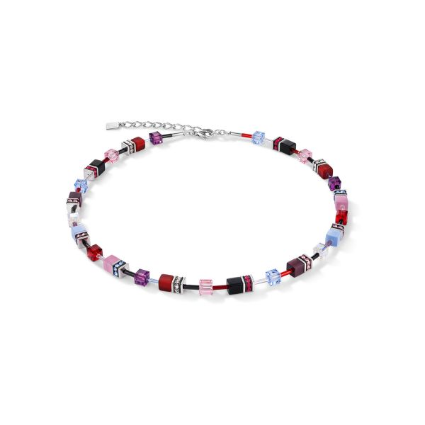 GEOCUBE Blue/Purple/Red Necklace