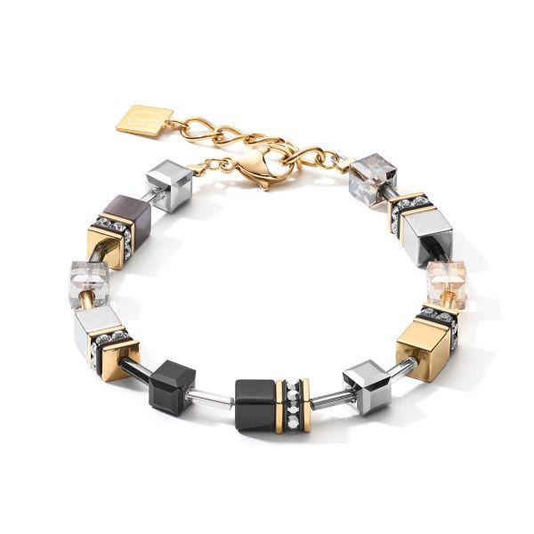 GEOCUBE Black/Gold/Grey Bracelet